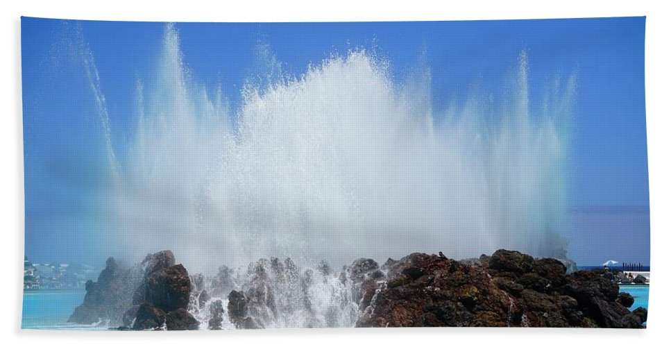 Water Bath Sheet featuring the photograph Fountain by FL collection