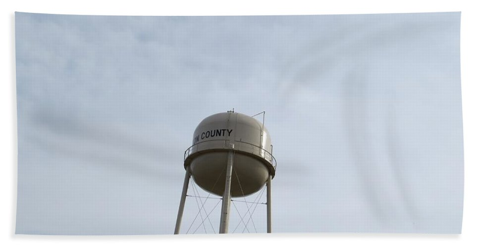 Dome Bath Sheet featuring the photograph Water Tower by Aaron Martens