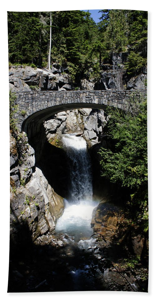 Bridges Hand Towel featuring the photograph Water Under The Bridge by Edward Hawkins II