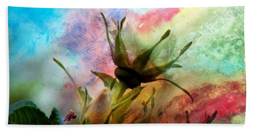 Watercolor Roses Bath Sheet featuring the photograph Watercolor Roses by Barbara Griffin