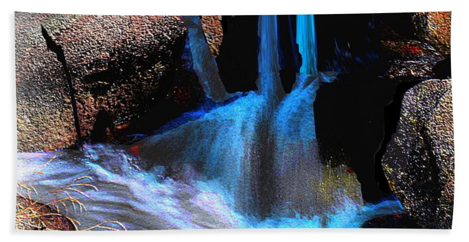 Waterfall Bath Sheet featuring the painting Waterfall by Cliff Wilson
