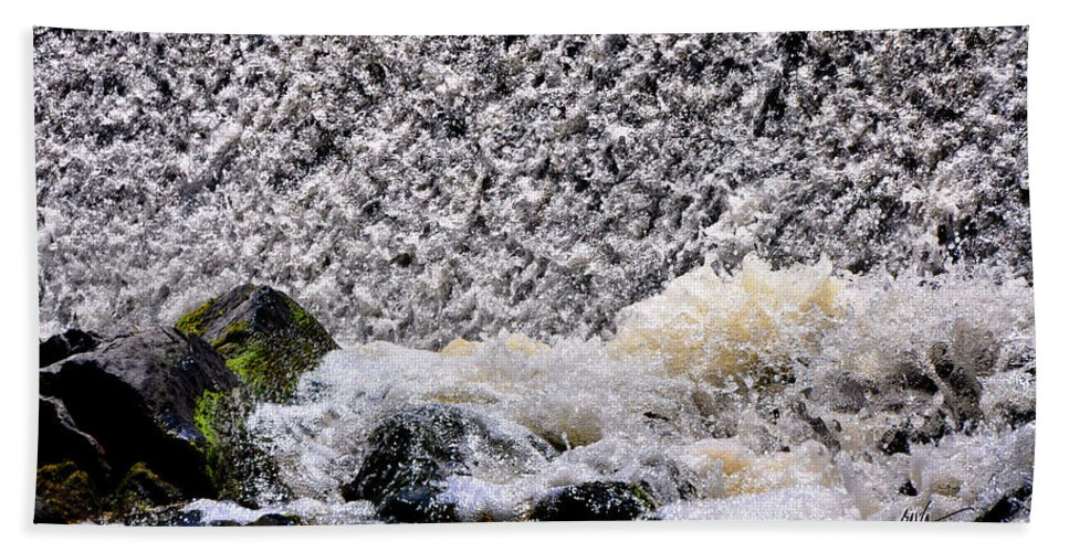 Waterfall Hand Towel featuring the photograph Waterfall Dance by Mark Valentine
