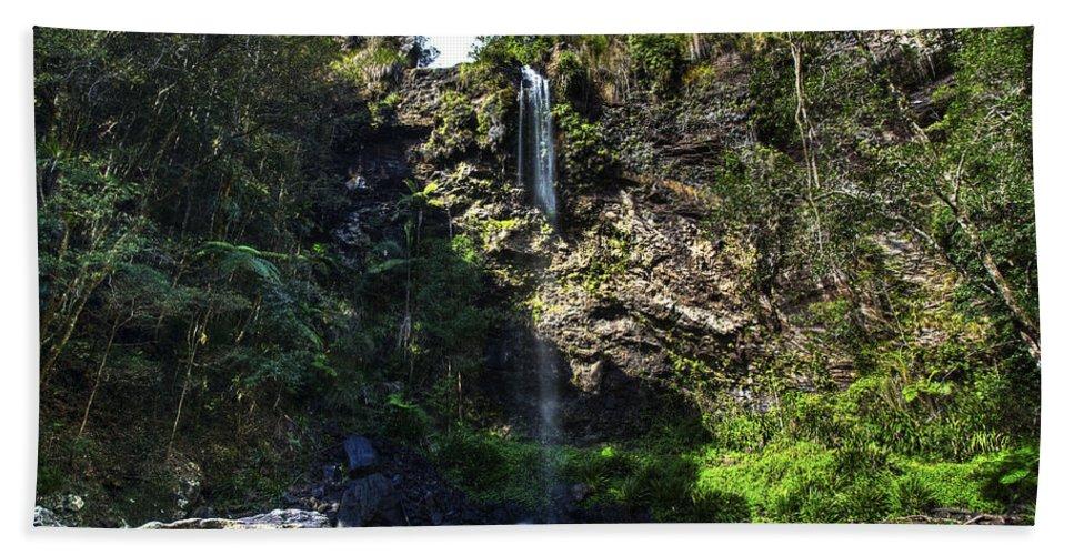 Cascade Bath Sheet featuring the photograph Waterfall by Darren Burton