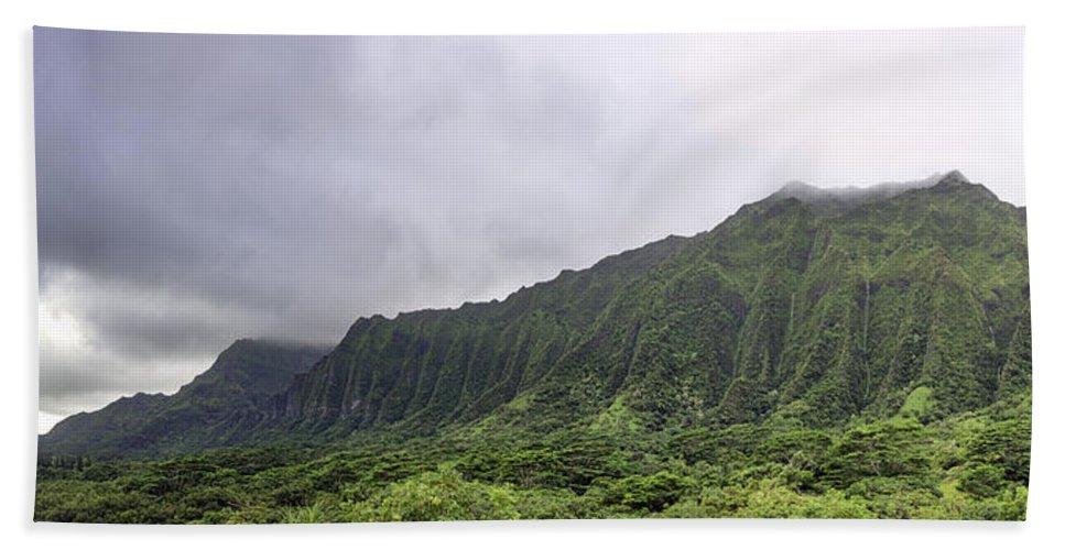 Hawaii Hand Towel featuring the photograph Waterfall Heaven by Dan McManus