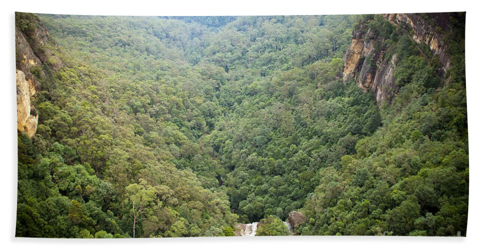 Australia Bath Sheet featuring the photograph Waterfall Valley by Tim Hester