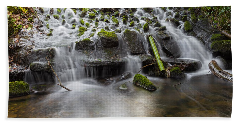 Dublin Hand Towel featuring the photograph Waterfalls In Marlay Park by Semmick Photo