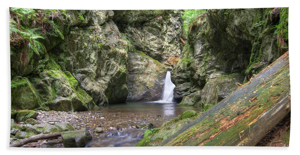 Cascade Hand Towel featuring the photograph Waterfalls by Michal Boubin