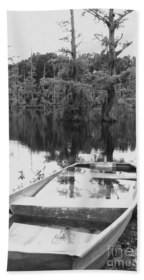 Boat Bath Towel featuring the photograph Waterlogged by Scott Pellegrin