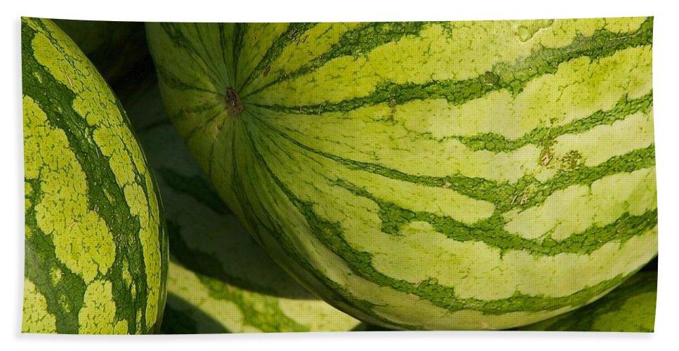 Watermelon Bath Sheet featuring the photograph Watermelons by Stuart Litoff