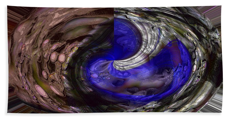 Abstract Hand Towel featuring the photograph Wateroid by Richard Thomas