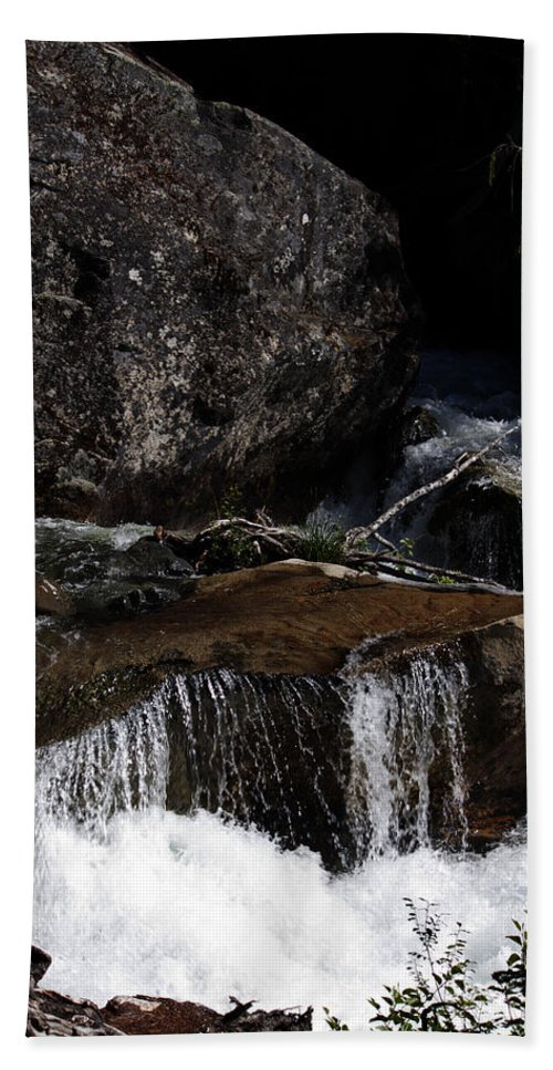 River Hand Towel featuring the photograph Water's Flow by Edward Hawkins II