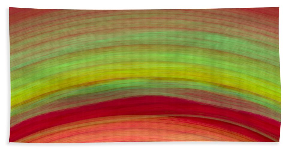 Wave Bath Sheet featuring the digital art Wave-04 by RochVanh