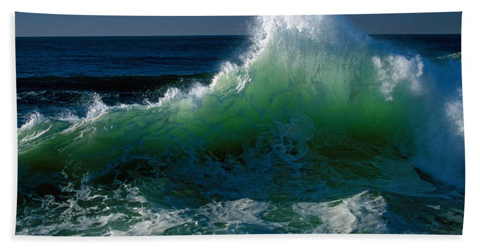 Photography Hand Towel featuring the photograph Wave Crashing On Pacific Coast, Oregon by Panoramic Images