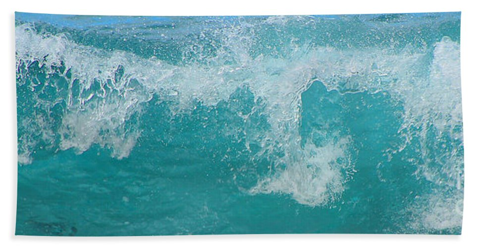 Waves Bath Sheet featuring the photograph Wave by Kris Hiemstra