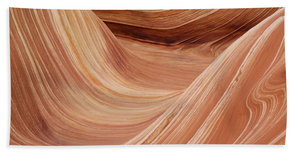 Landscape Hand Towel featuring the photograph Wave Rock 3 At Coyote Buttes by Alex Cassels