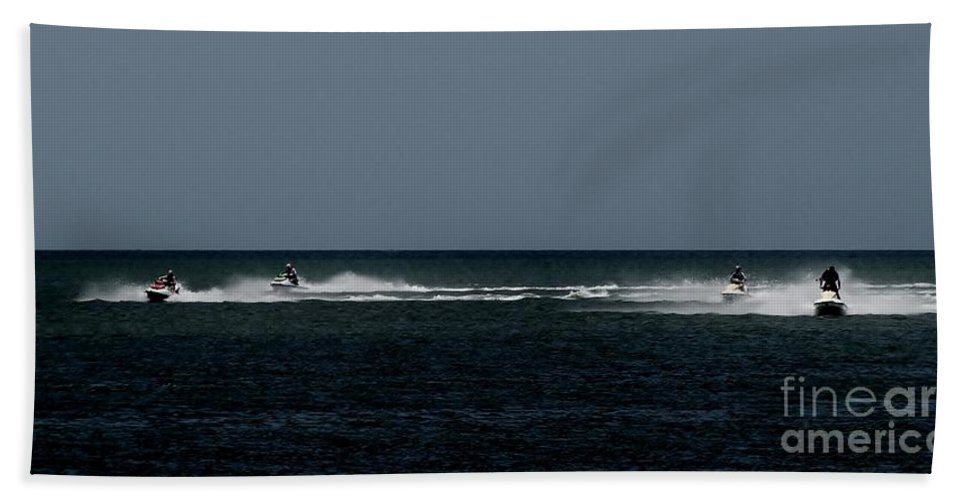 Color Bath Sheet featuring the photograph Wave Runners 1 by Amar Sheow