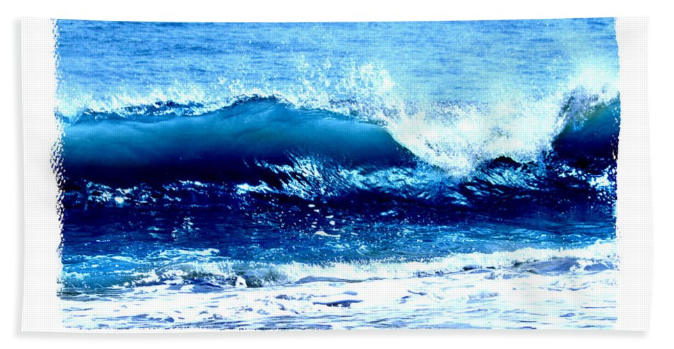 Wave Bath Sheet featuring the photograph Wave Serenity Prayer by Tina Meador