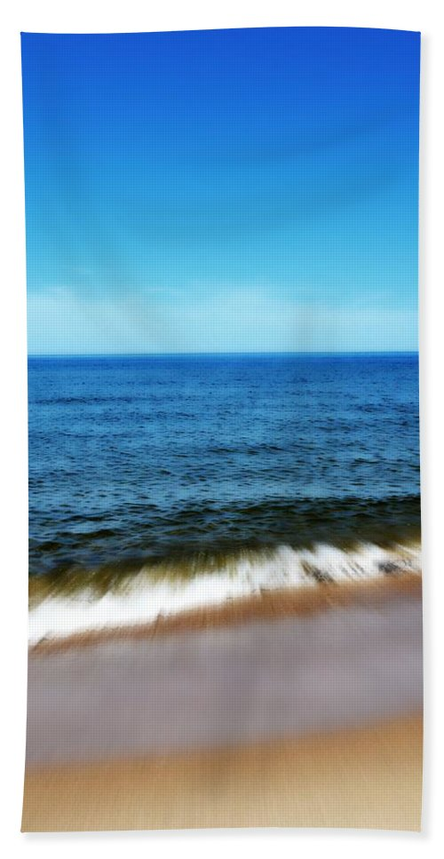Lake Michigan Bath Sheet featuring the photograph Waves In Motion by Michelle Calkins