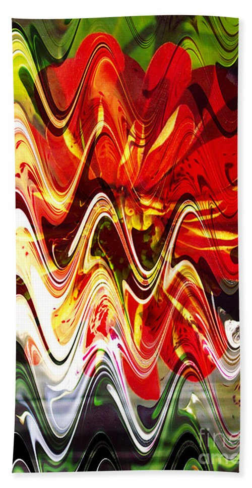 Digital Image Hand Towel featuring the digital art Waves by Yael VanGruber