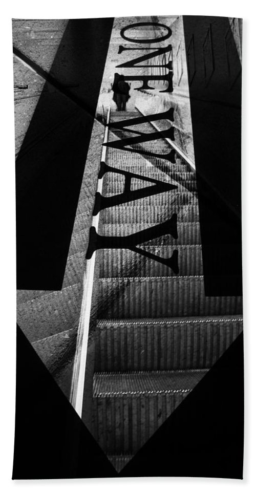 Stairs Hand Towel featuring the photograph Way Down by The Artist Project