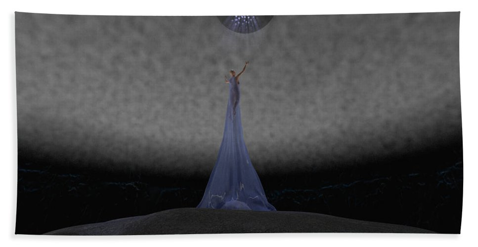 Way Bath Towel featuring the digital art Way To Blue by Brainwave Pictures