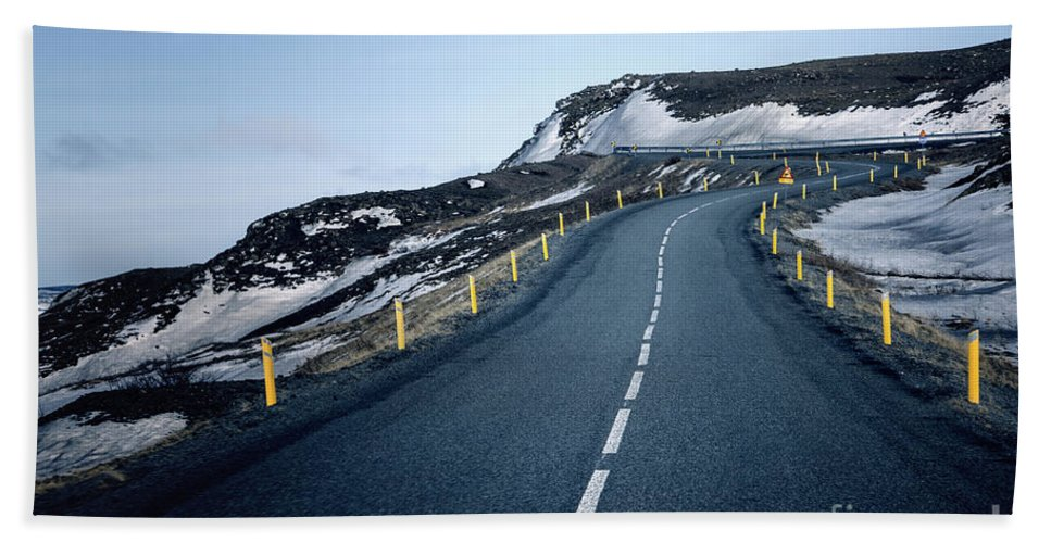 Iceland Hand Towel featuring the photograph Way Up by Evelina Kremsdorf
