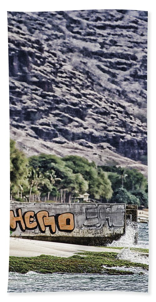 Hawaii Hand Towel featuring the photograph We Don't Need Another Hero by Douglas Barnard