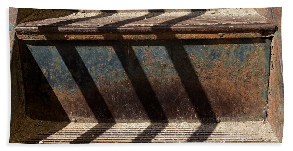 Weathered Bath Sheet featuring the photograph Weathered Stairs by John Daly