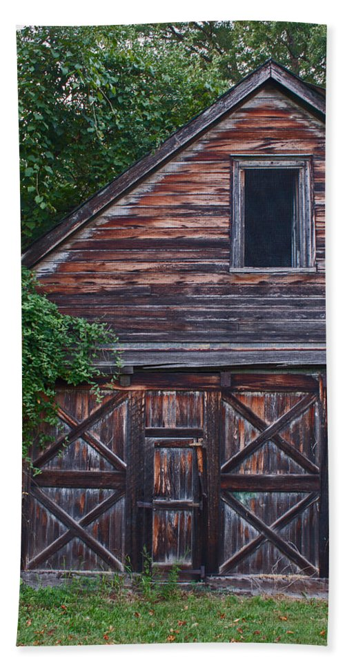Wood Bath Sheet featuring the photograph Weathered Wood by Michael Porchik
