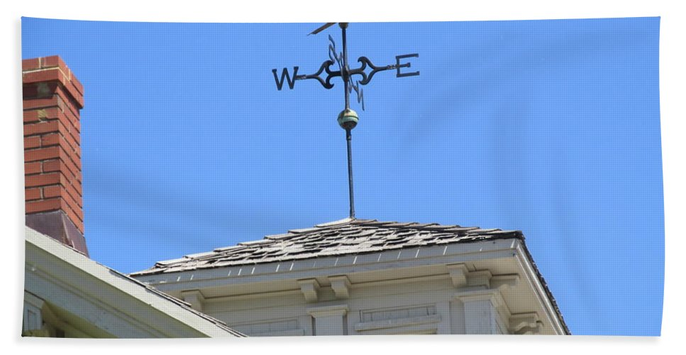 Horse Weather Vane Hand Towel featuring the photograph Weathervane Horse by Don Baker