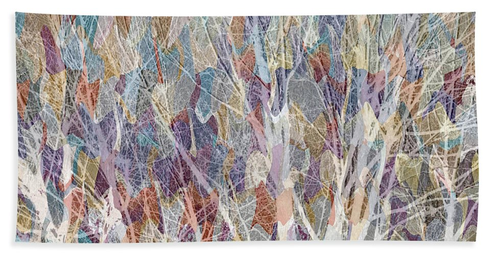 Trees Hand Towel featuring the mixed media Web Of Branches by Ruth Palmer