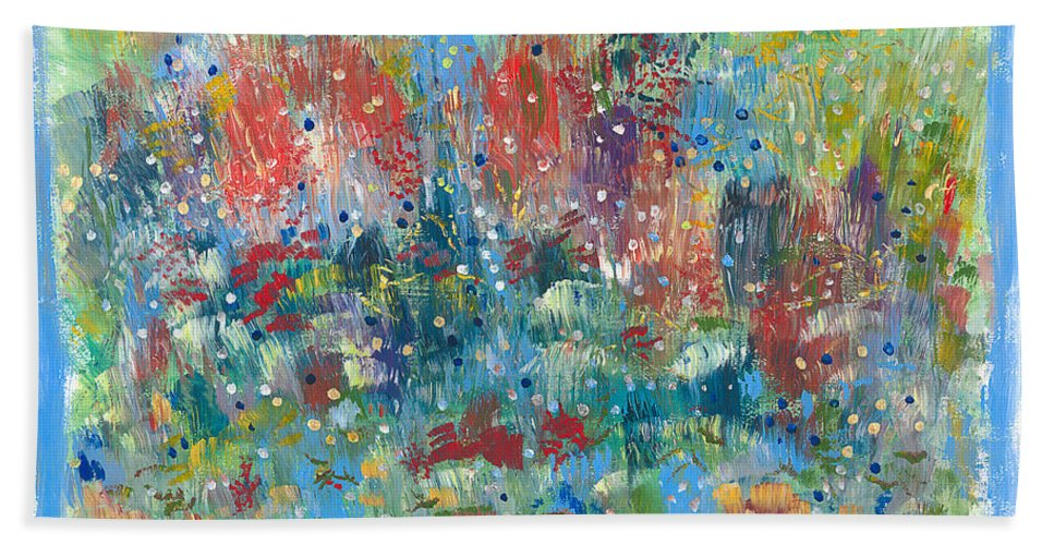 Contemporary Hand Towel featuring the painting Weeds by Bjorn Sjogren