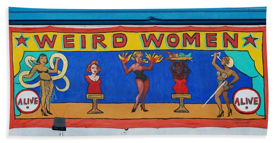 Brooklyn Bath Sheet featuring the photograph Weird Women by Rob Hans