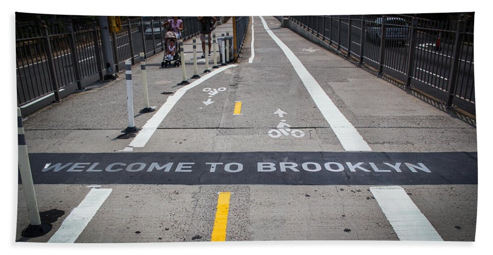 New York Bath Sheet featuring the photograph Welcome To Brooklin by Sam Garcia
