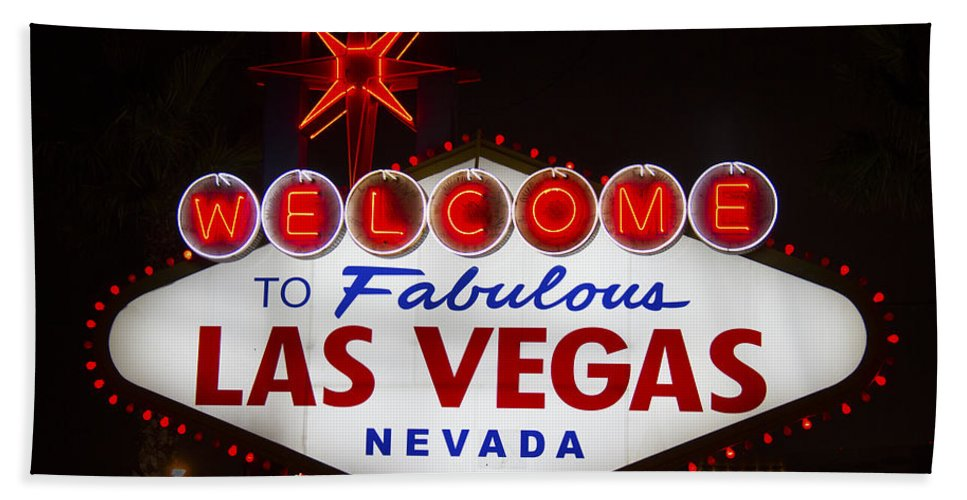 Las Vegas Hand Towel featuring the photograph Welcome To Fabulous Las Vegas by Debby Richards