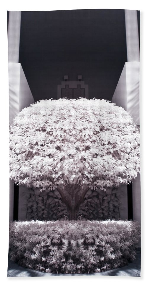 3scape Photos Bath Towel featuring the photograph Welcome Tree Infrared by Adam Romanowicz