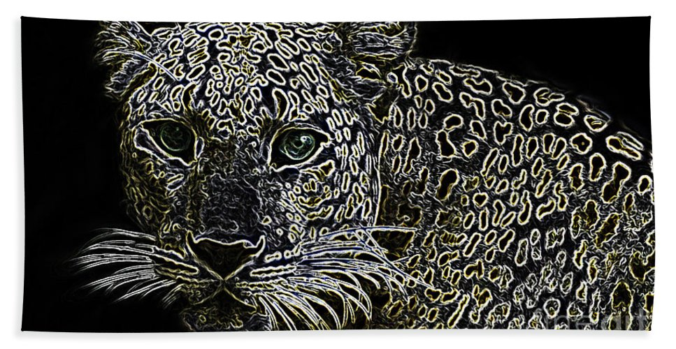 Animals Hand Towel featuring the photograph Yellow Spots by Ben Yassa