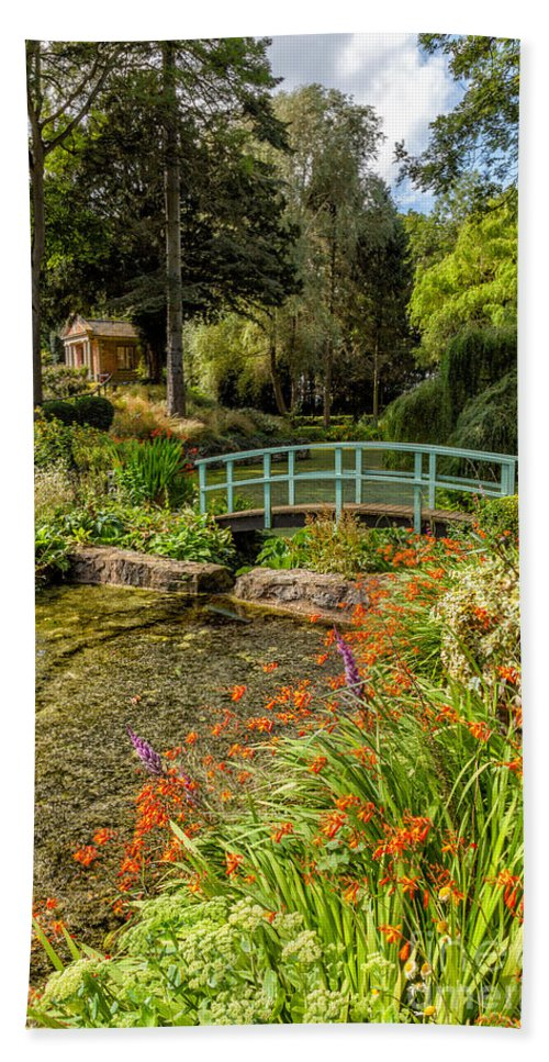 British Hand Towel featuring the photograph Welsh Garden by Adrian Evans