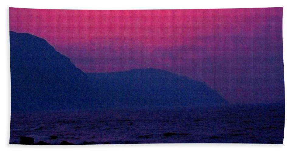 Newfoundland Hand Towel featuring the photograph West Coast Newfoundland Sunrise by Ian MacDonald