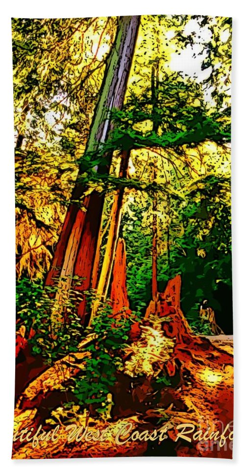 Nature Hand Towel featuring the photograph West Coast Rainforest by John Malone