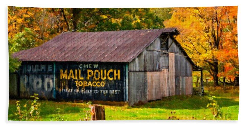 West Virginia Bath Sheet featuring the photograph West Virginia Barn Oil by Steve Harrington