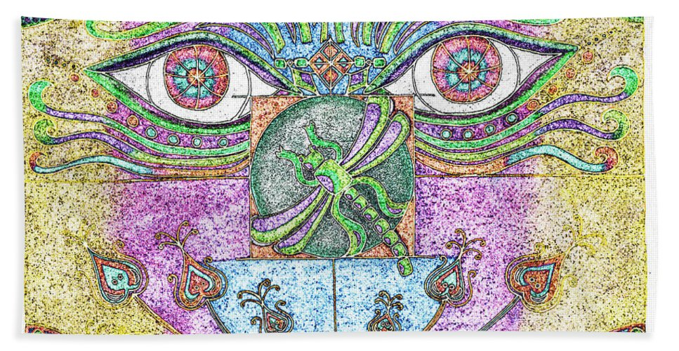 Eyes Bath Sheet featuring the digital art What A Change Of Pace by Teri Schuster