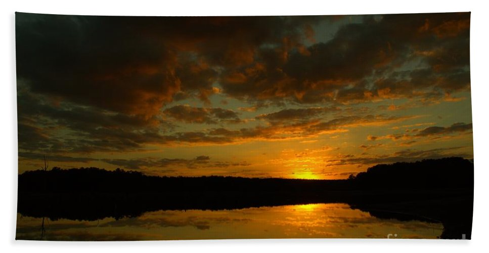 Sunset Hand Towel featuring the photograph What A Sunset by Donna Brown