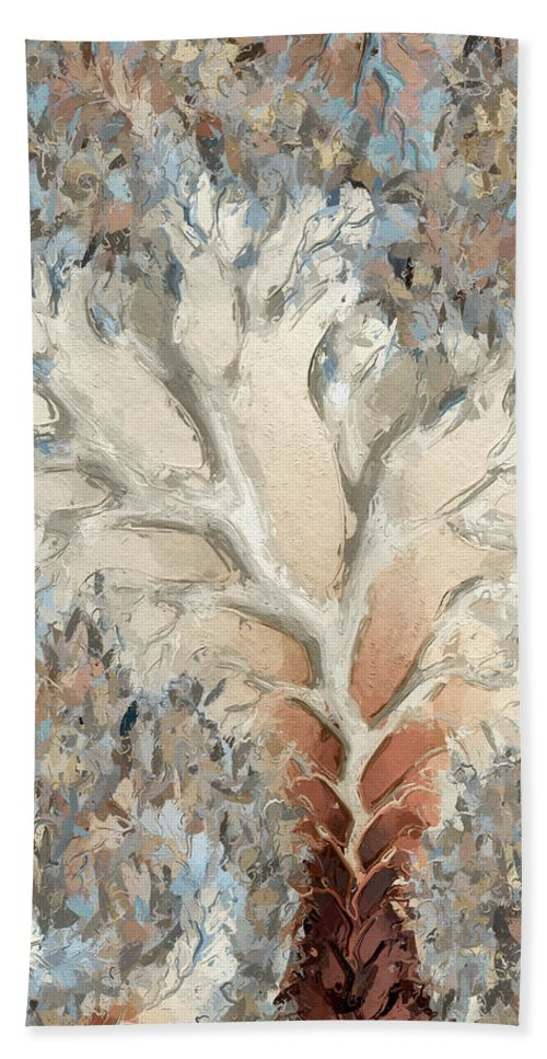 Hand Towel featuring the digital art What Do You See - Two by Heidi Smith