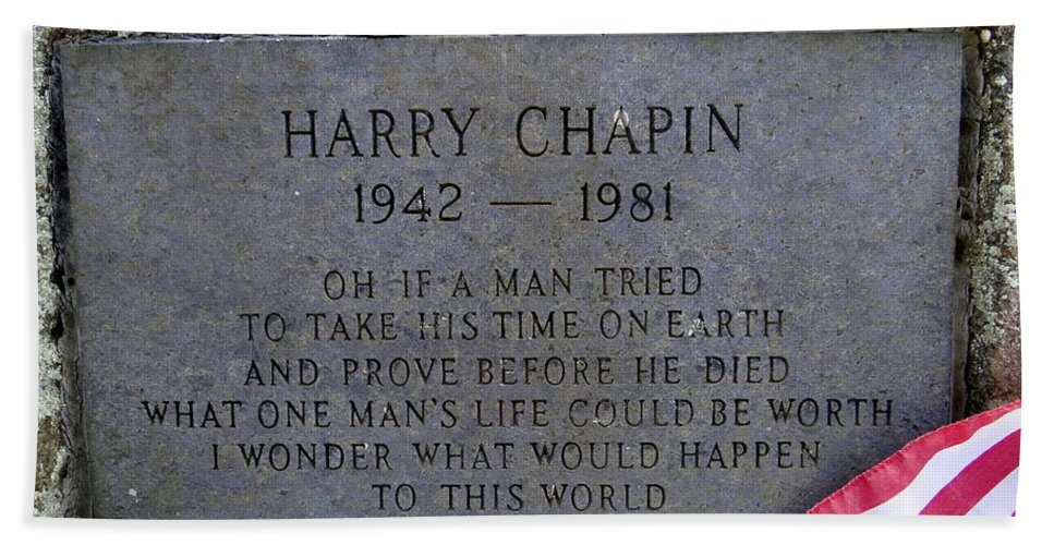 Harry Chapin Hand Towel featuring the photograph What One Man's Life Could Be Worth by Ed Weidman