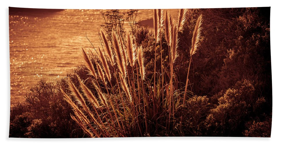 Copyrighted Hand Towel featuring the photograph Wheat Grass by Mike Penney