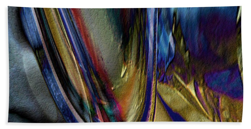 Hotel Art Hand Towel featuring the digital art When Beauty Visits The Hard Place by Margie Chapman