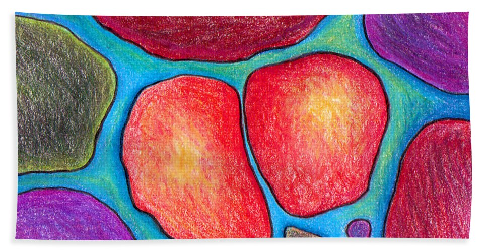 Trading Card Hand Towel featuring the drawing When Soul Mates Collide by Nancy Mueller