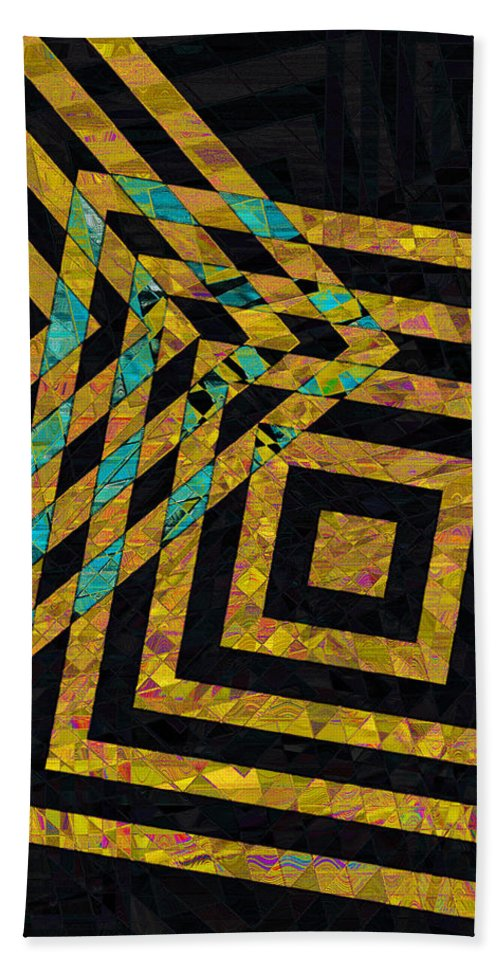Squares Hand Towel featuring the photograph When Squares Merge Yellow by David Pantuso
