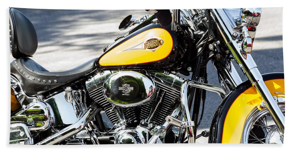 Cap Hand Towel featuring the photograph Where Do You Hang A Harley Cap by Ed Gleichman